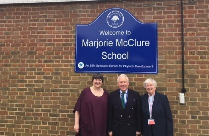 Bob Neill pushes for building improvements at Marjorie McClure